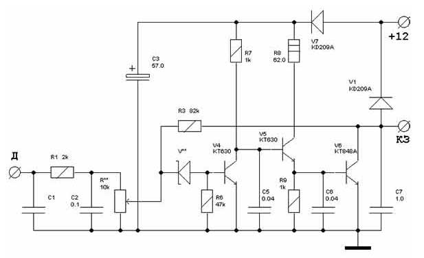 Схема электронного термореле